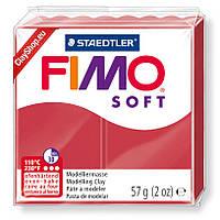 Полимерная глина пластика Фимо СОФТ Fimo Soft красный 26 - 56гр