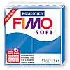 Полимерная глина пластика Фимо Софт Fimo Soft небесно-синий 37- 56г