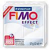 Глина Фимо Эффект полупрозрачный белый 014 - 56гр. Fimo Effect