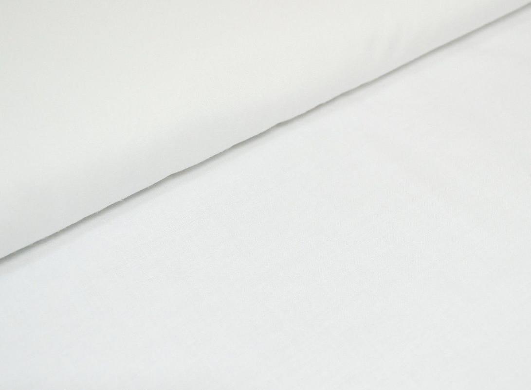 Хлопковая ткань бязь однотонная белая ,шир 2,2м