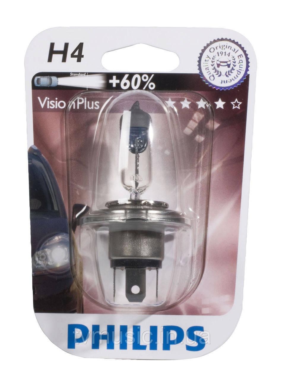 Галогенная лампа Philips VisionPlus H4 12V (12342VPB1)