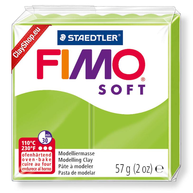 Полимерная глина пластика Фимо Софт Fimo Soft зеленое яблоко 50 - 56гр