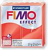 Брусок Fimo Effect полупрозрачный красный 204 - 56гр.