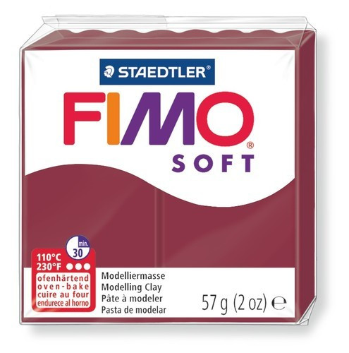 Полимерная глина пластика Фимо Софт Fimo Soft 56 г - мерло 23