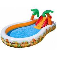 Детский бассейн с горкой 57131 Intex