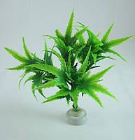 Растение для аквариума пластиковое 12 см