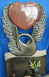 Памятники скульптуры на могилы. Лебедь с сердцем, фото 5