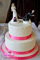 Лучший свадебный  торт  в розовом цвете