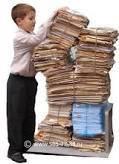 Утилизация изделий из бумаги и картону (макулатура загрязненная или такая, что подлежит к захоронению)
