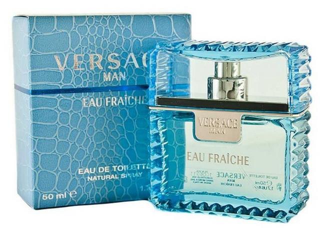 Мужская оригинальная туалетная вода Versace Man eau Fraiche 50ml  NNR ORGAP /9-72