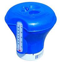 Плавающий дозатор Bestway с термометром синий