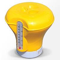 Плавающий дозатор Bestway с термометром желтый