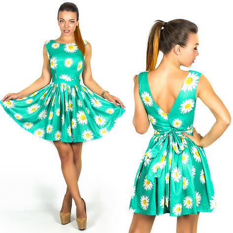Бирюзовое платье 15894, фото 2