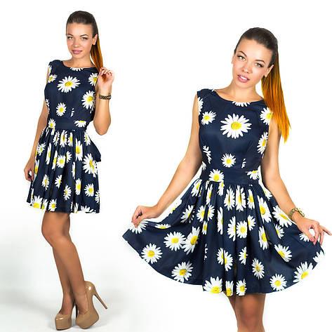 Темно-синее платье 15894, фото 2