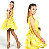 Желтое платье 15894