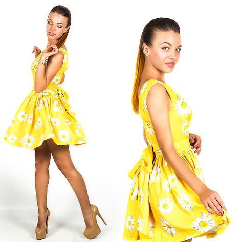 Желтое платье 15894, фото 2