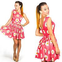 Коралловое платье 15894