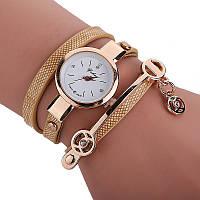 Женские наручные золотые часы-браслет кварцевые Duoya с золотым браслетом, фото 1