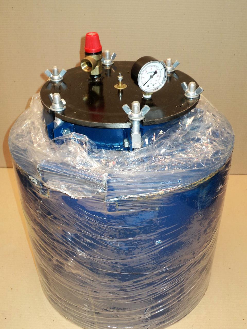 Автоклав  для домашнего консервирования на 16 литровых банок ( горловина 215 мм ) усиленное крепление