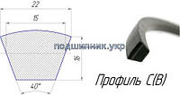 Ремень приводной клиновой -22/C 1500 Fenner/TOP DRIVE