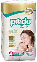 Подгузники Predo Baby Maxi 4 Small 8 -18 кг 10 шт