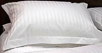 ОПТ Страйп-сатин 1/1 или 2/2 отбеленный,двуспальный комплект.