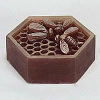 Силиконовая форма Пчелки на сотах 3D