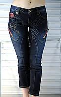 Капри джинсовые темно- синие