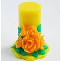 Силиконовая форма Свеча букет из роз, 3D