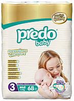 Подгузники Predo Baby Midi 3 Jambo 4-9 кг 68 шт