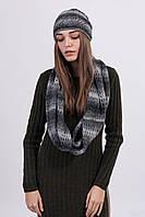 Теплая шапка с шарфом