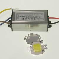 Комплект для сборки LED прожектора и уличного светильника 10Вт, IP65 (COB+драйвер), фото 1