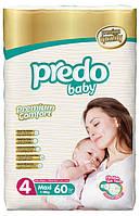 Подгузники Predo Baby Maxi 4 Jambo 7-18 кг 60 шт