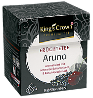 King's Crown Premium Tee Früchtetee Aruna - ФРУКТОВЫЙ ЧАЙ арина с ароматом смородины и вишни , 45 Г