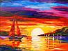 «Закат у родных берегов» картина маслом