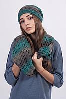 Комплект  женский  шапка + снуд