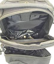 Рюкзак-сумка тактический однолямочный со стропами MOLLE, фото 3