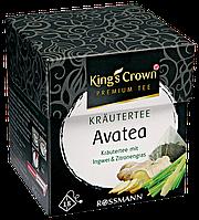 "King's Crown Premium Tee Kräutertee Avatea - ТРАВЯНОЙ ЧАЙ ""ава"" с Имбирем и лимонной травой, 45 г, 18 шт"