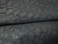 Натуральная кожа Нубук черный с плитой питона , фото 1