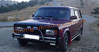 Защита переднего бампера кенгурятник крашенный (с защитой картера) D42 на ВАЗ 2101-2107