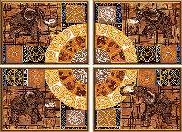"""Схема для вишивки бісером """"Колесо фортуни"""" з 4 частин"""