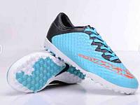 Футбольные сороконожки Nike Elastico TF Blue Lagoon
