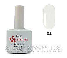 Гель-лак Nails Molekula №1 белый