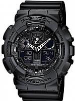 Часы мужские наручные в стиле Casio G-Shock GA-100 черные (Касио Джи Шок) электронные противоударные (black)