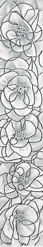 Плитка InterCerama BRINA бордюр вертикальный серый