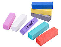 Бафы маникюрные SALON PROFESSIONAL (120 грит) для полировки ногтей, 4-х гранные