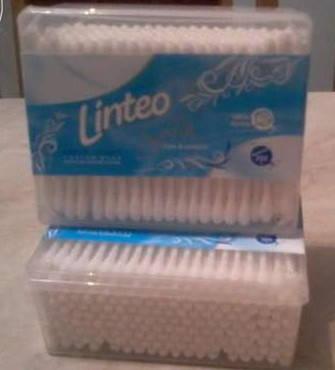 Косметические ватные палочки Linteo коробка 200 шт., фото 2
