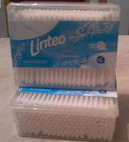 Косметические ватные палочки Linteo коробка 200 шт.