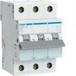 Автоматический выключатель 3р 6А B, MBN306E Hager