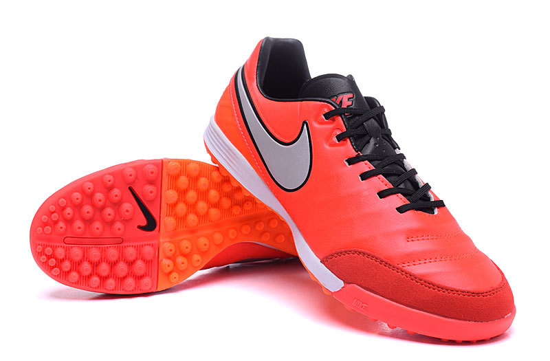 Футбольные сороконожки Nike Tiempo Mystic V TF Light Crimson/Metallic Silver/Total Crimson